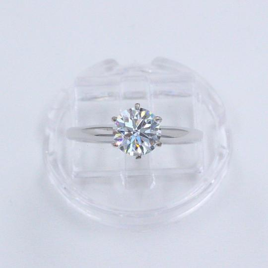 Hearts on Fire F Vs2 Ideal Cut Round Diamond 1.03 Ct 14k White Gold Engagement Ring Image 8