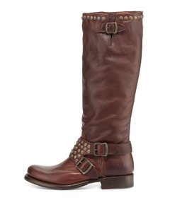 Frye Studded Cognac Boots