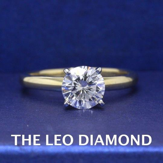 H Vs2 Diamond Solitaire Round 0.99 Cts 14k Yellow Gold Engagement Ring Image 1