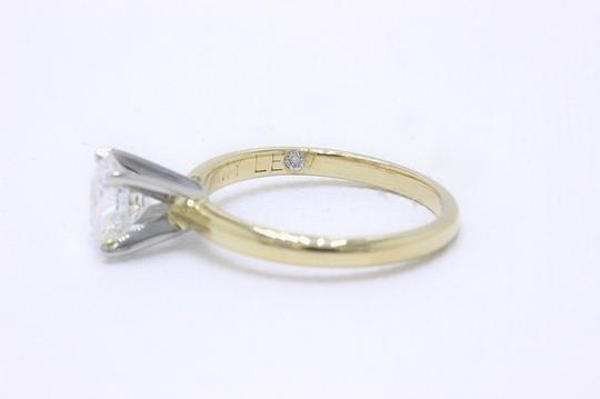 H Vs2 Diamond Solitaire Round 0.99 Cts 14k Yellow Gold Engagement Ring Image 2