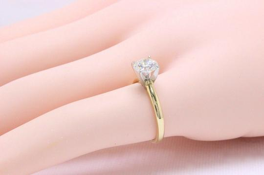 H Vs2 Diamond Solitaire Round 0.99 Cts 14k Yellow Gold Engagement Ring Image 7