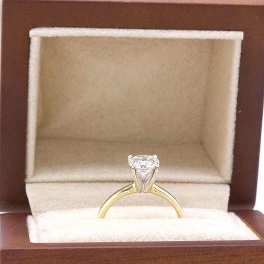 H Vs2 Diamond Solitaire Round 0.99 Cts 14k Yellow Gold Engagement Ring Image 8