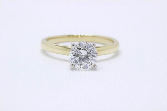 H Vs2 Diamond Solitaire Round 0.99 Cts 14k Yellow Gold Engagement Ring Image 9