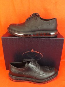 ac9a1cdeb31df Prada Black Oiled Leather Brogue Wingtip Levitate Platform Oxfords 8 Us 9  Shoes