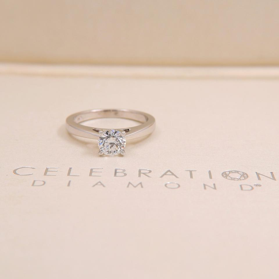 D Si2 Round 0 97 Cts 18k White Gold Engagement Ring Tradesy