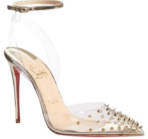 Christian Louboutin Spike Clear in Metallic Pumps