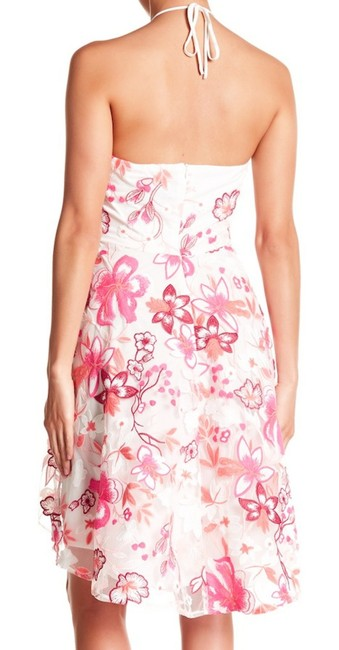 Alexia Admor short dress Pink Floral Embroidery Halter Tie Neck Concealed Back Zip High Low Hem Super on Tradesy Image 4