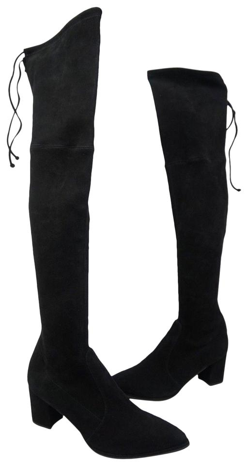 bfca43a5a15 Stuart Weitzman Black Thighland Over The Knee Boots Booties Size US ...