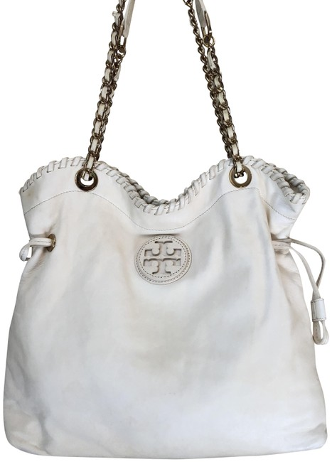 Item - Marion Slouchy Ivory Lambskin Leather Tote