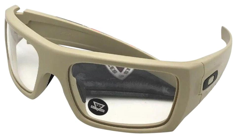 0238fb5c2f Oakley OAKLEY INDUSTRIAL DET-CORD Safety Glasses OO9253-1761 Desert  Tan+Clear Image ...