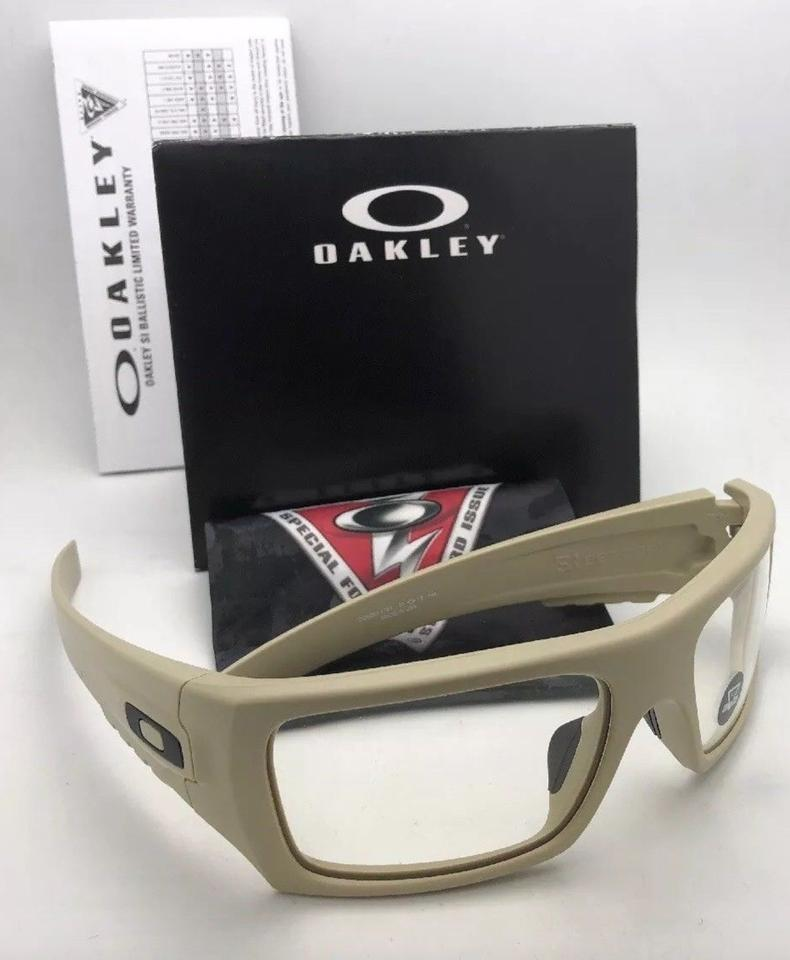 a4f0f9868b Oakley OAKLEY INDUSTRIAL DET-CORD Safety Glasses OO9253-1761 Desert Tan+ Clear Image. 123456789101112