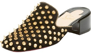 Christian Louboutin Spike Suede black Sandals