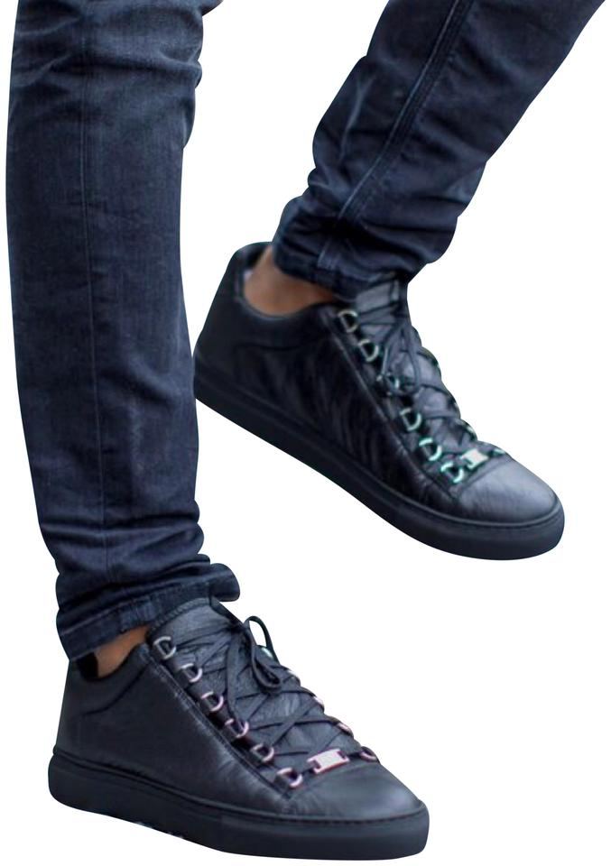 8f1bd07be Balenciaga Black Low Top Arena Sneakers Sneakers Size EU 37 (Approx ...