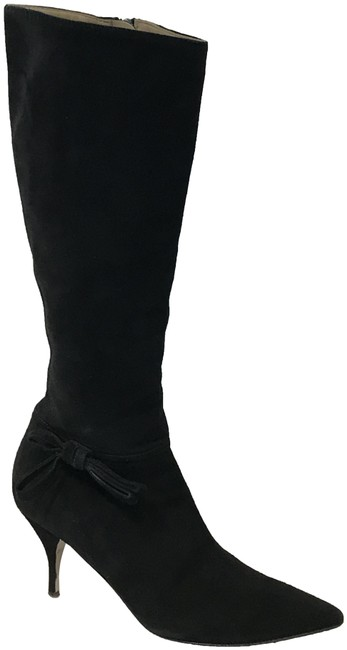 Item - Black Bow Accents Suede Boots/Booties Size EU 37.5 (Approx. US 7.5) Regular (M, B)