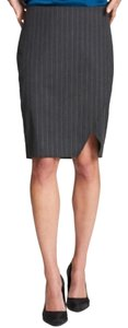 DKNY Pinstriped Pencil Office Skirt Gray