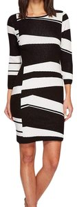 Vince Camuto 3/4 Sleeve Birdseye Sweater Dress