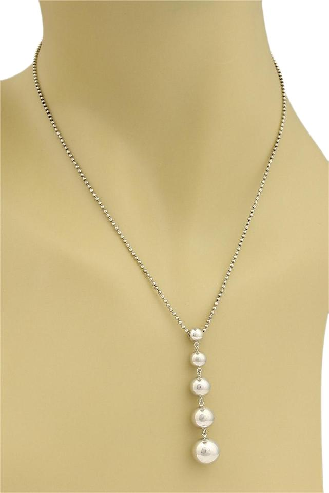 49d52e0c7 Tiffany & Co. 16280. Graduated Bead Sterling Silver Pendant Necklace ...