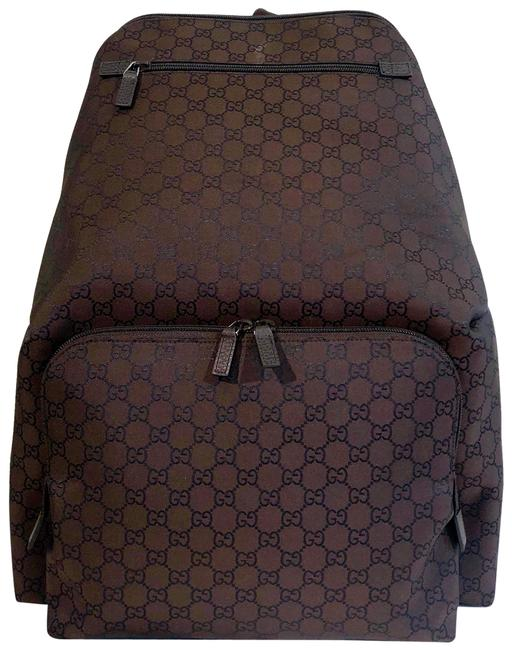 Item - Canvas Brown Nylon Backpack