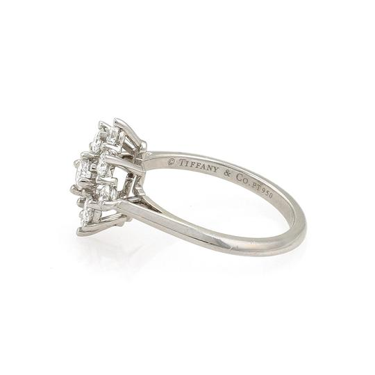Tiffany & Co. Diamond Platinum Floral Cluster Ring Image 1