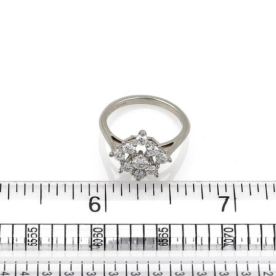 Tiffany & Co. Diamond Platinum Floral Cluster Ring Image 4