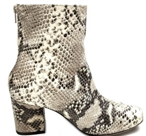 432722b0fb73 Free People Taupe Snake Print Leather Cecile Ankle Boots Booties. Size  EU  ...