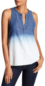 Joie Carley Indigo Bleached Top Blue
