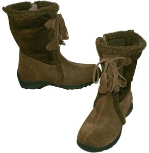 Lands' End Winter Midcalf Warm Casual Tie Up Boots