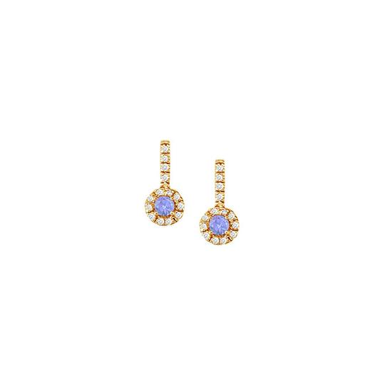 Preload https://img-static.tradesy.com/item/24072808/blue-fancy-round-tanzanite-and-cubic-zirconia-halo-in-18k-yellow-g-earrings-0-0-540-540.jpg