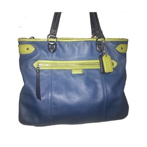 Coach Tote in blue, green