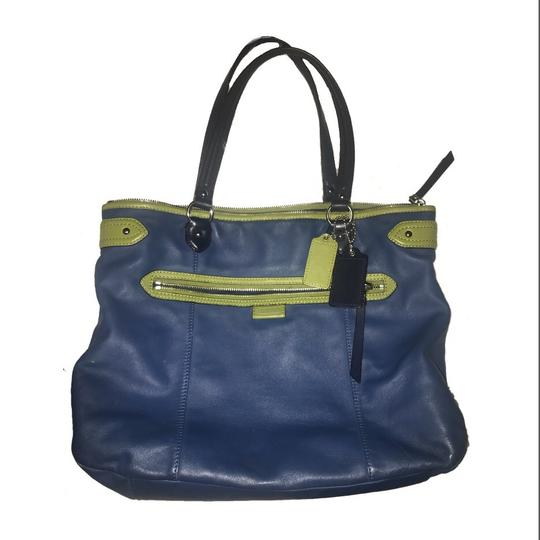 Coach Tote in blue, green Image 1