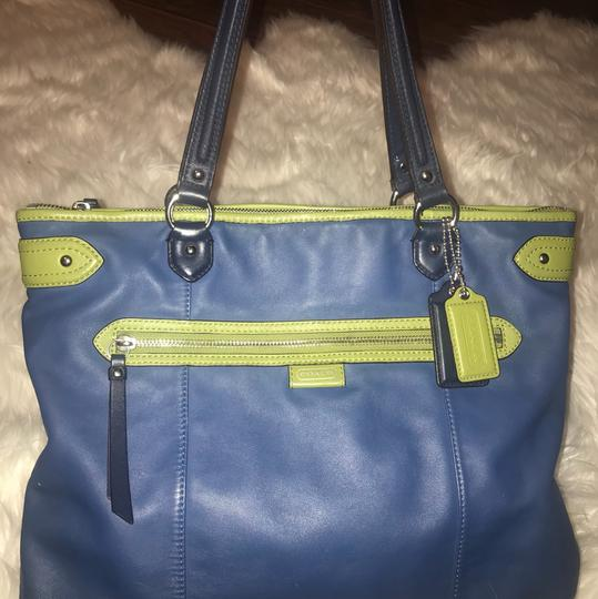 Coach Tote in blue, green Image 2