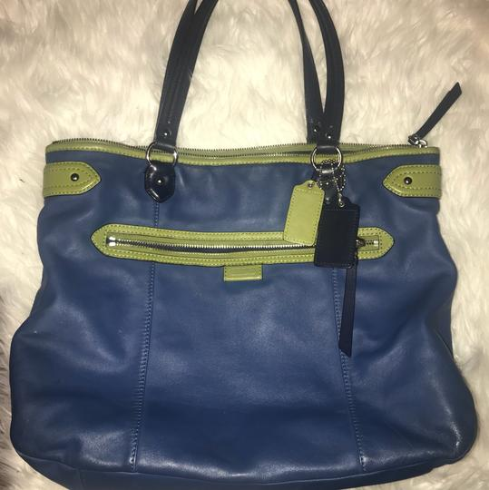 Coach Tote in blue, green Image 3