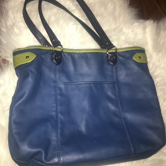 Coach Tote in blue, green Image 4