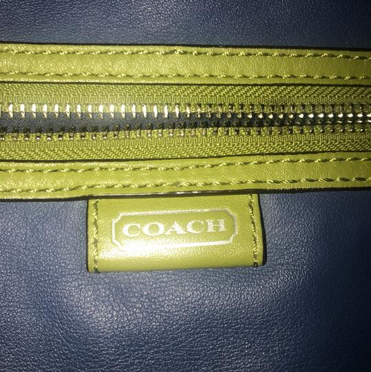 Coach Tote in blue, green Image 5