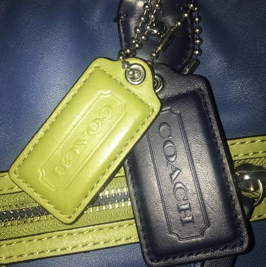 Coach Tote in blue, green Image 6