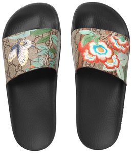 Gucci Flora Animal Print Guccissima Gg Blooms Beige Sandals