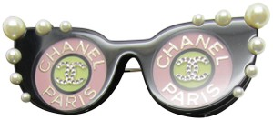 Chanel CC Chanel Brooch, Pink Sunglass Chanel Paris New in Box with Tags