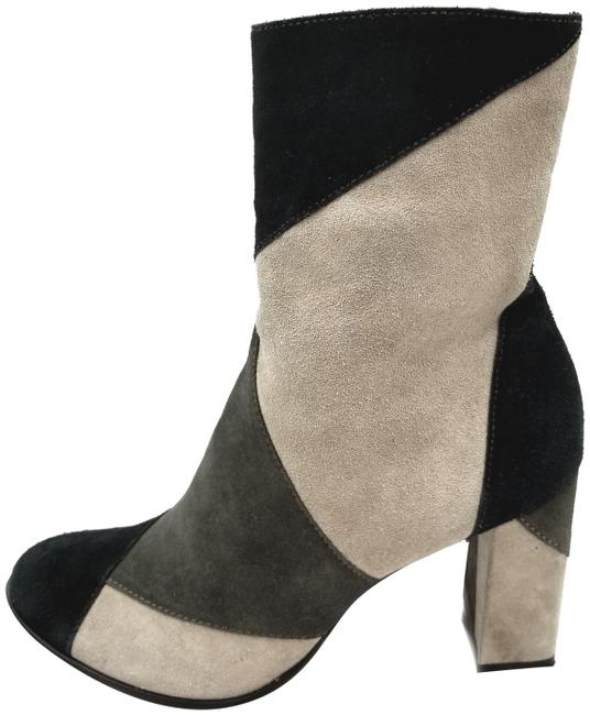 Item - Black Multi Ls Jigsaw Suede Patchwork Boots/Booties Size US 10 Regular (M, B)
