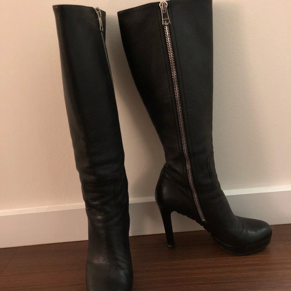 b4029e416 Gucci Black Anouk Lug Sole Leather Boots/Booties Size US 10 Regular ...