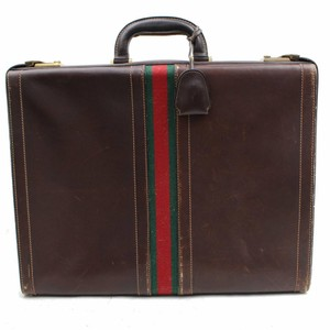 Gucci Attache Briefcase Document Trunk Case Laptop Bag