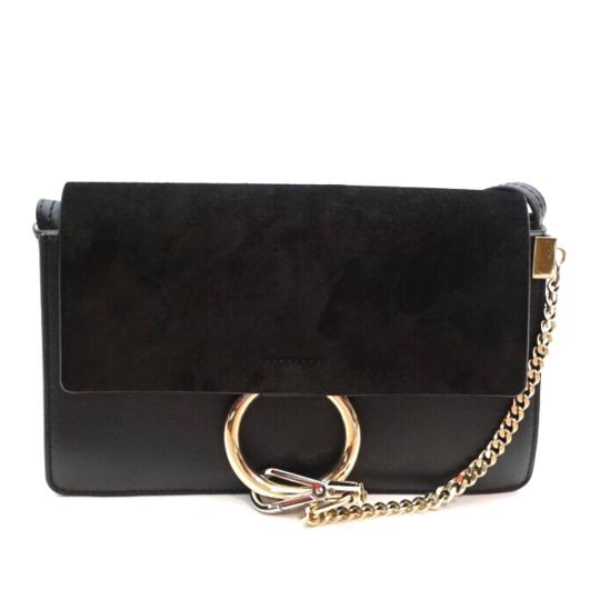 Preload https://img-static.tradesy.com/item/24073100/chloe-faye-small-shoulder-black-leather-and-suede-cross-body-bag-0-0-540-540.jpg