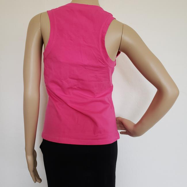 Dior Crystal Diorissimo Logo Embroidered Sleeveless Top Pink Image 10