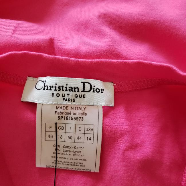 Dior Crystal Diorissimo Logo Embroidered Sleeveless Top Pink Image 11