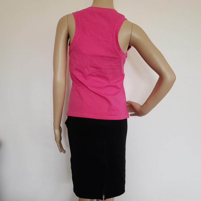 Dior Crystal Diorissimo Logo Embroidered Sleeveless Top Pink Image 9