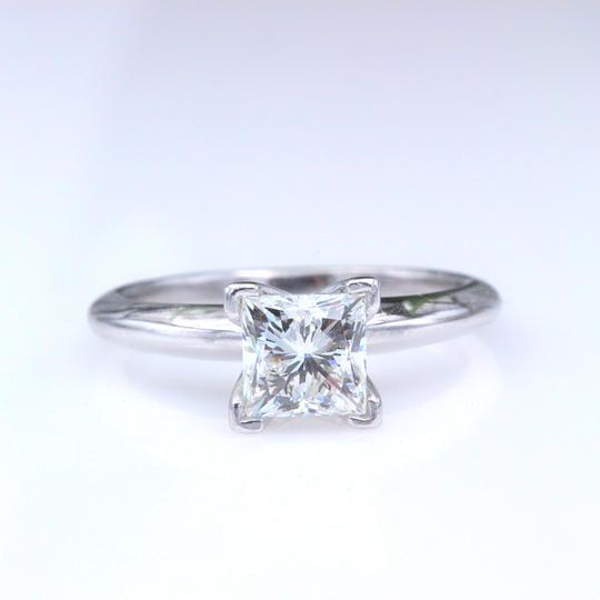 I Vs1 Princess 0.95cts 14k White Gold Papers Engagement Ring Image 2