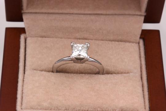I Vs1 Princess 0.95cts 14k White Gold Papers Engagement Ring Image 3