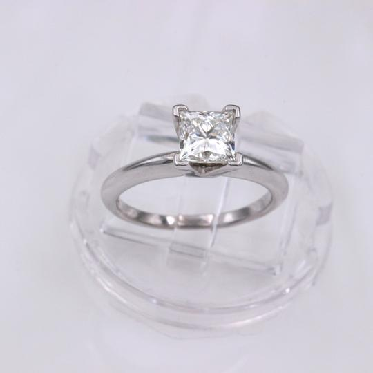 I Vs1 Princess 0.95cts 14k White Gold Papers Engagement Ring Image 4