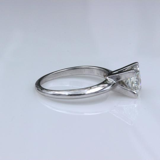I Vs1 Princess 0.95cts 14k White Gold Papers Engagement Ring Image 6