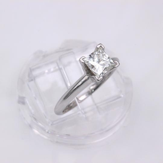 I Vs1 Princess 0.95cts 14k White Gold Papers Engagement Ring Image 7