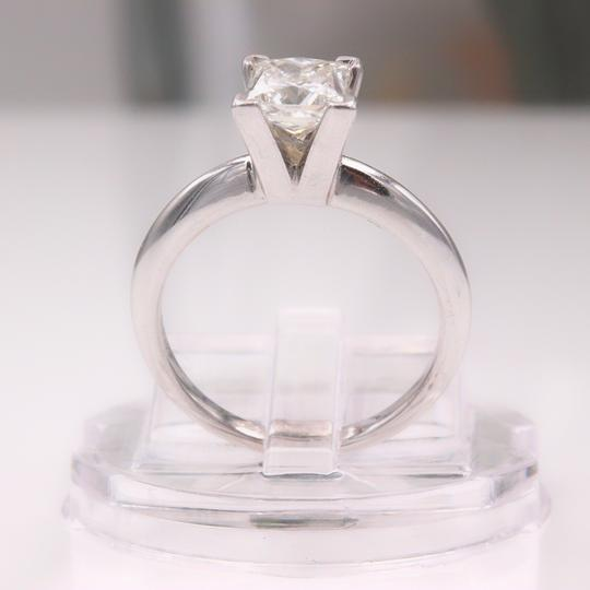 I Vs1 Princess 0.95cts 14k White Gold Papers Engagement Ring Image 8